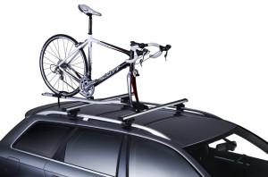 portabicicletas de techo que coloca la bici sin rueda detantera