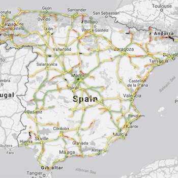 mapa de tramos peligrosos en nuestras carreteras